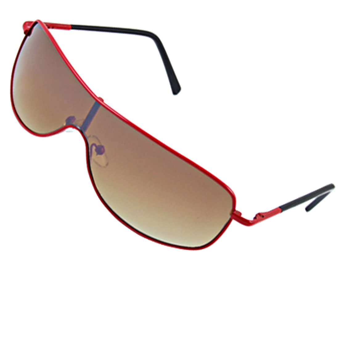 Childrens Plastic Coated Arms Full Rim Red Frame Eyewear Sunglasses