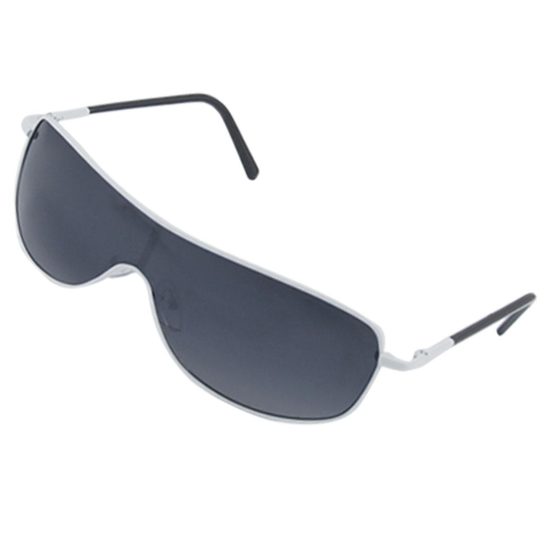 Children White Metal Full Rim Frame Eyewear Uni Lens Sunglasses