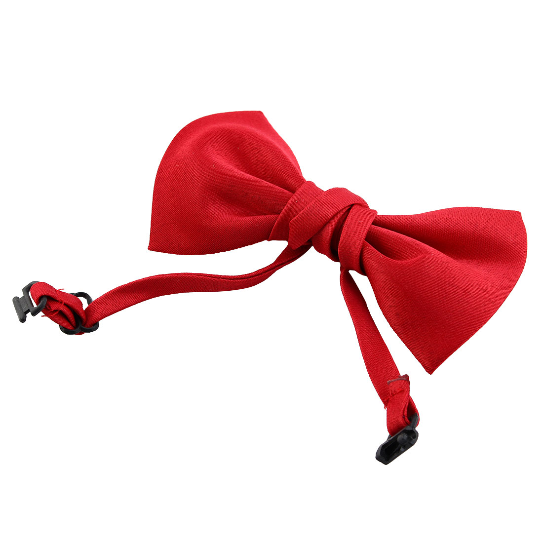 Dog Cat Polyester Adjustable Pet Collar Bow Tie Bowknot Necktie Red