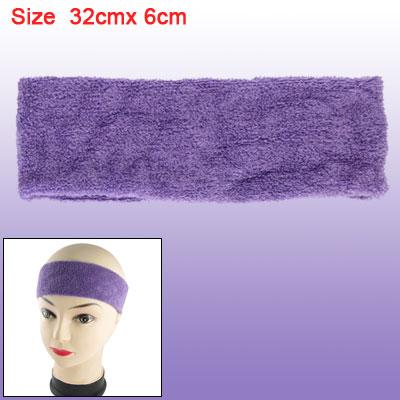 Purple Sports Athletic Stretch Sweat Absorb Headband