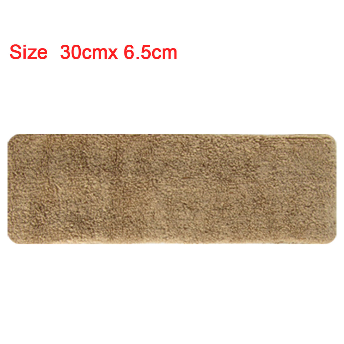 Brown Athletic Elastic Head Band Sports Support Terry Cloth Sweatband