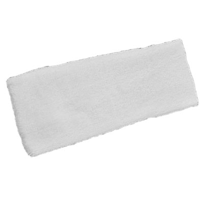 Running Workout Terry Cloth Sweatband Sports Elastic Head Band White for Adults