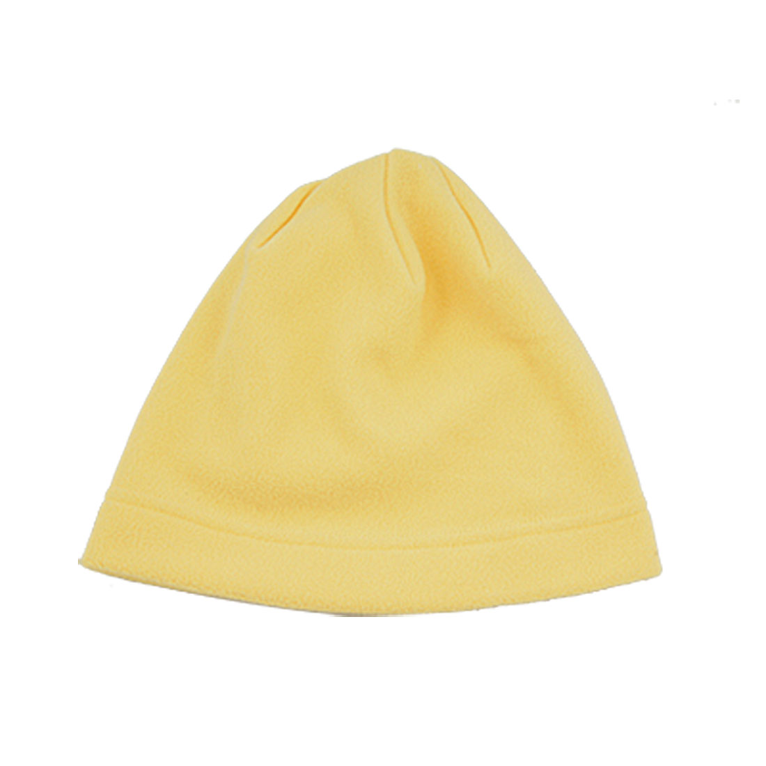 Men Women Yellow Soft Velvet Head Wear Cap Hat Winter