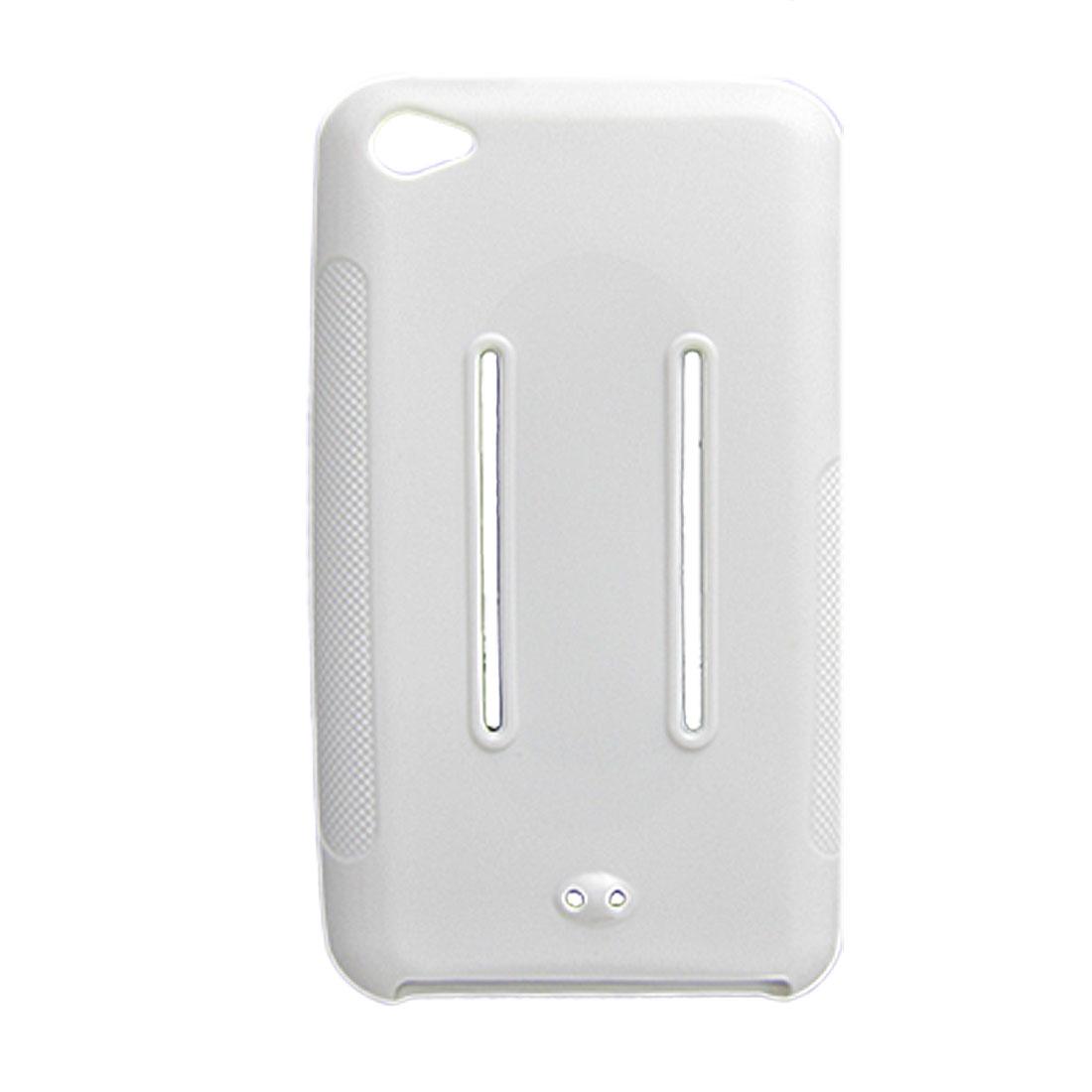 White Soft Plastic Sides Nonslip Back Case for Apple iPod Touch 4G