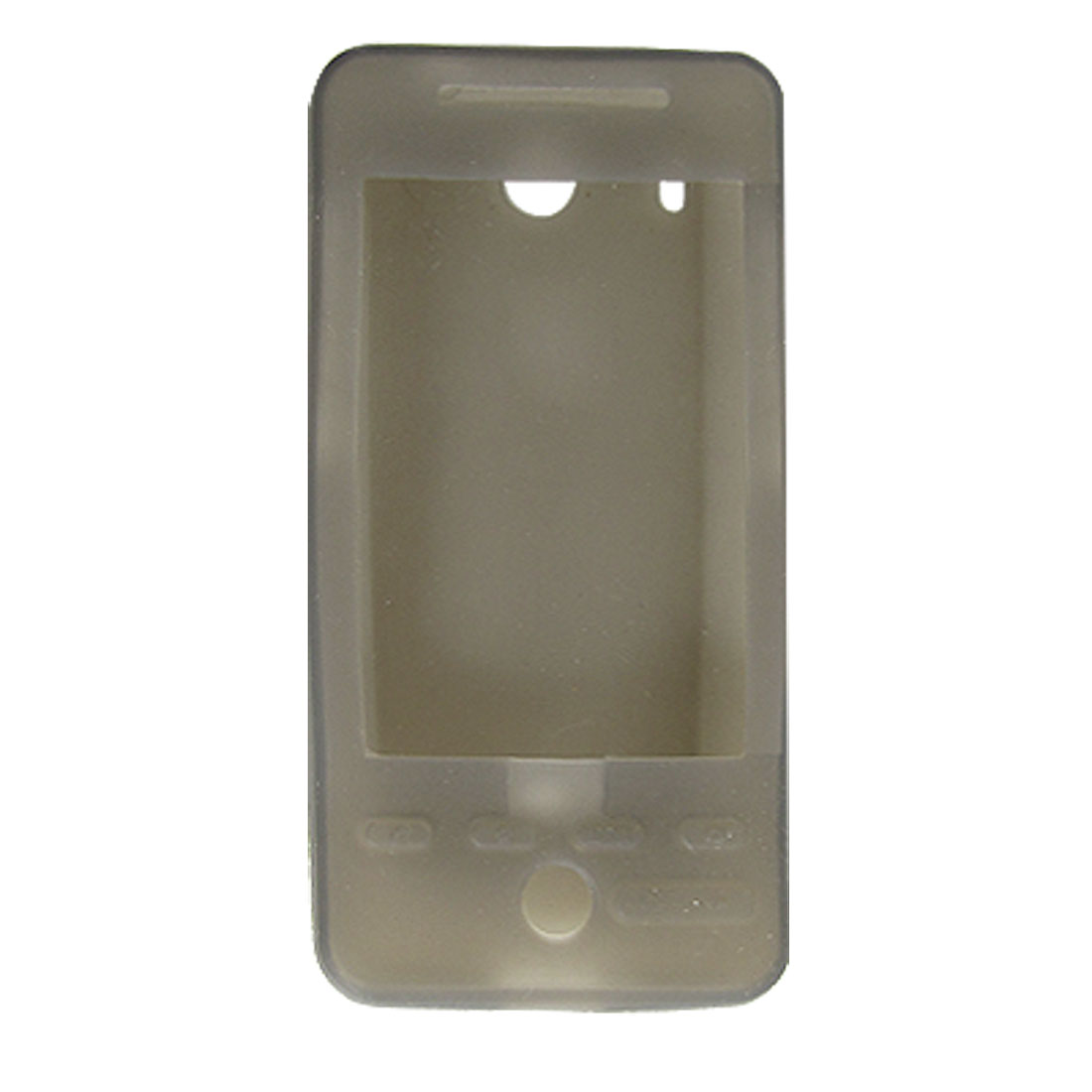 Gray Silicone Skin Protective Back Case for HTC G3 Hero
