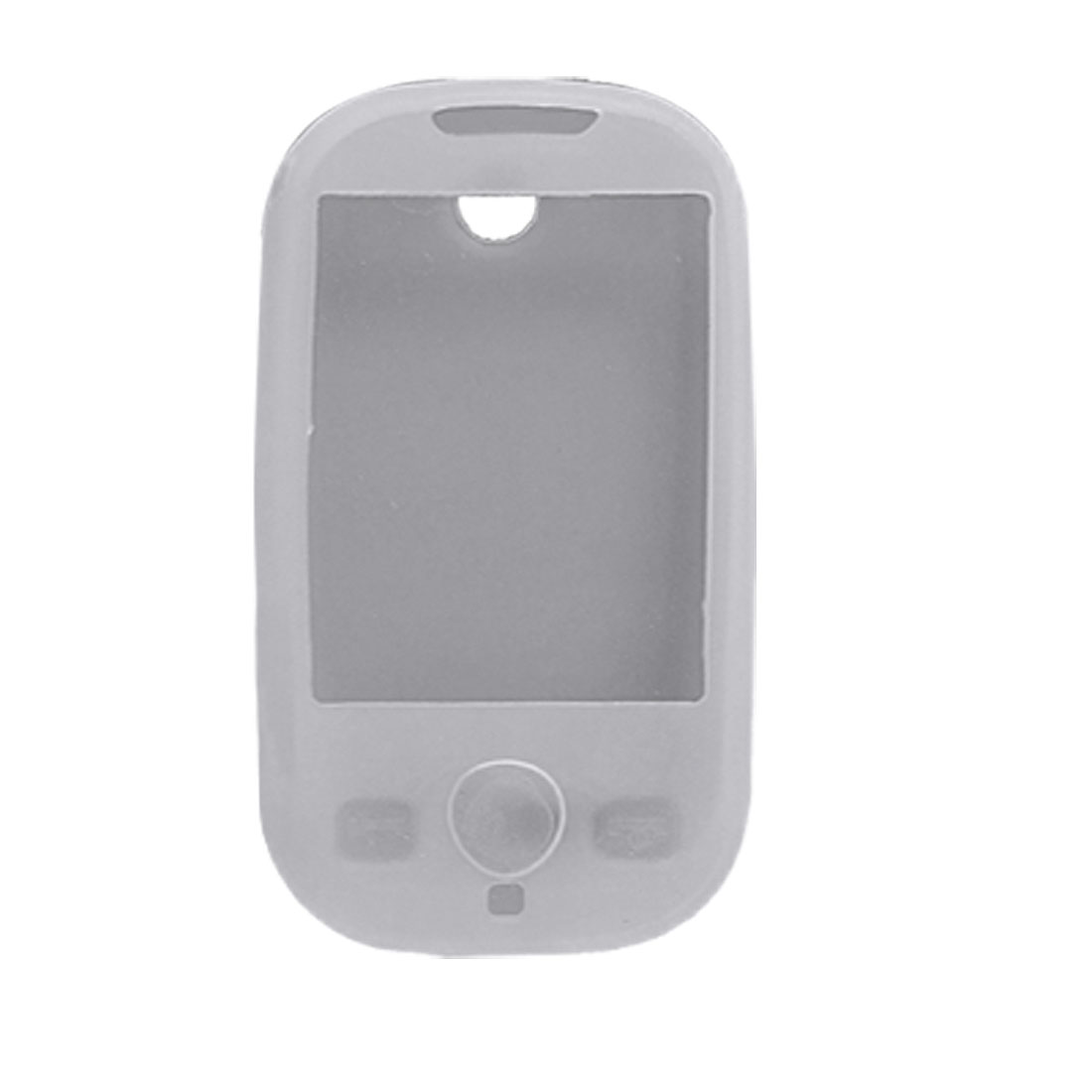 White Silicone Skin Back Case Protector for Sumsung S3650 Corby