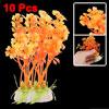 Orange Oval Base Artificial 10 PCS Plastic Plants for Aquarium