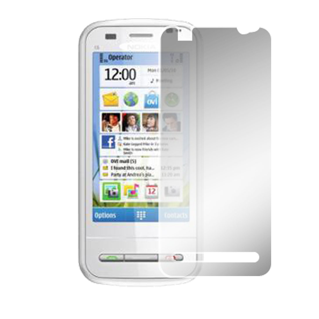 Clear Plastic Screen Film Protector for Nokia C6