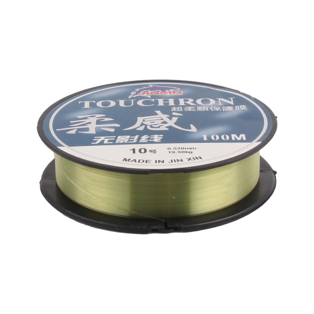 100M 19.5kg 0.52mm Diameter 10# Plastic Fishing Line Spool