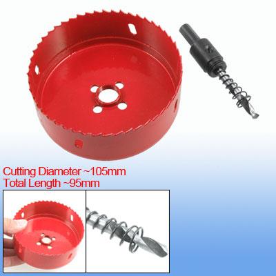 105mm Diameter Hole Saw Red Holesaw w 35mm Cutting Depth