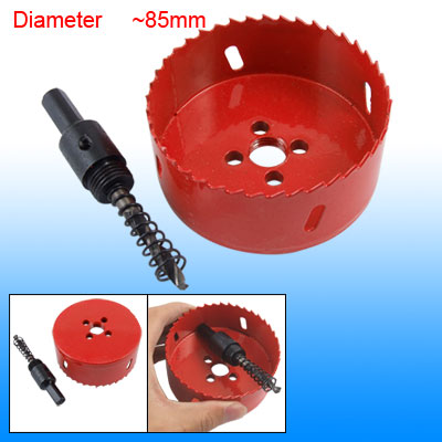 Twist Bit Hex Shank 85mm Diameter Hole Saw Holesaw Red