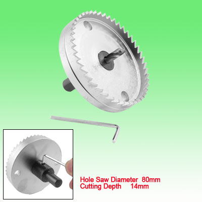 80mm Diameter Hex Shank Hole Saw Tooth Style Cutter