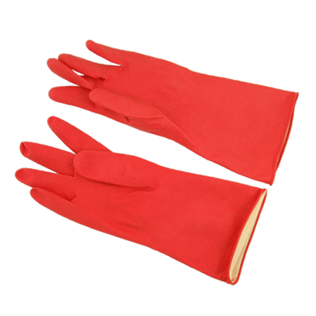 Red Long Household Wash Clean Latex Gloves Size Small 1 Pair