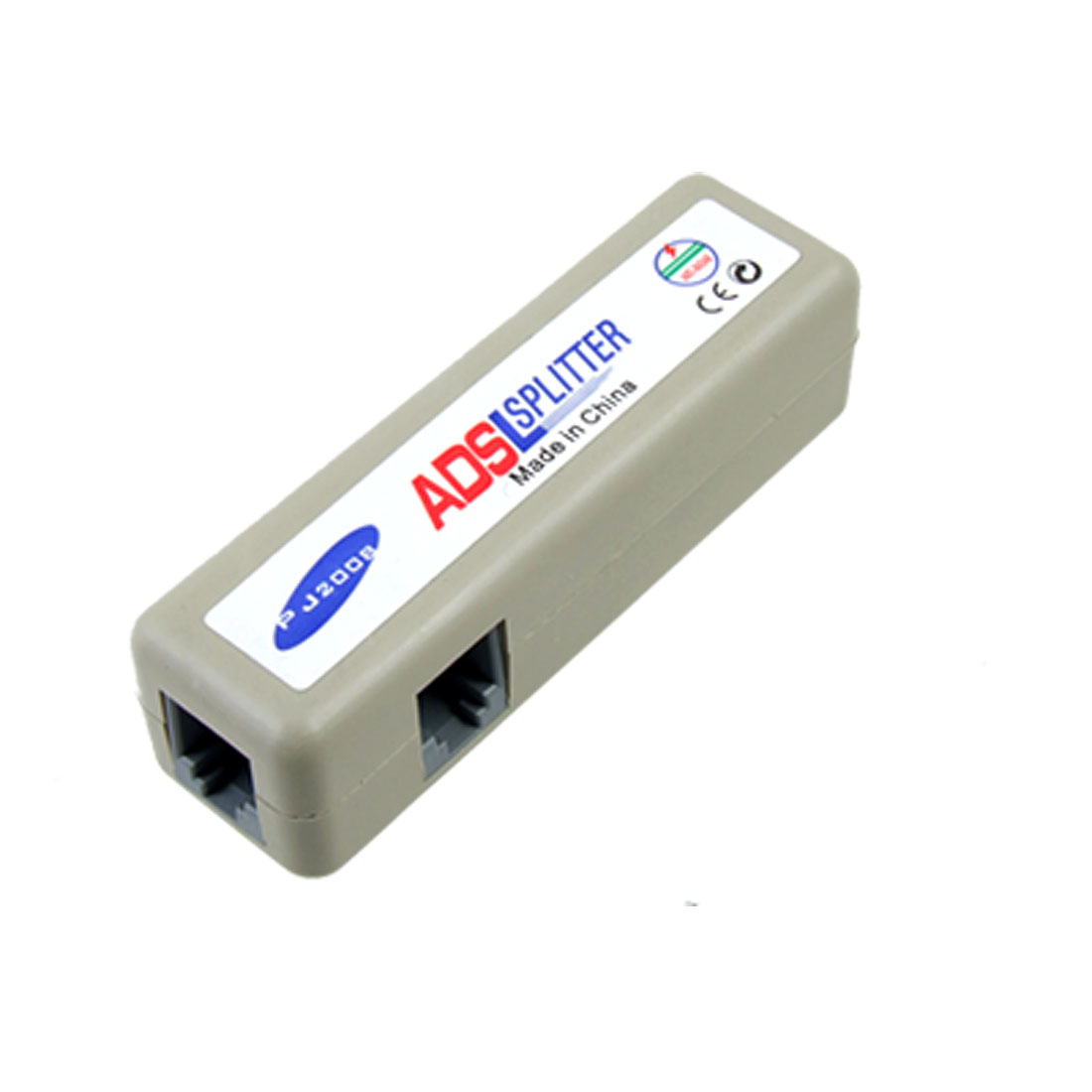 ADSL RJ11 Modem Telephone Line Adapter Splitter Gray
