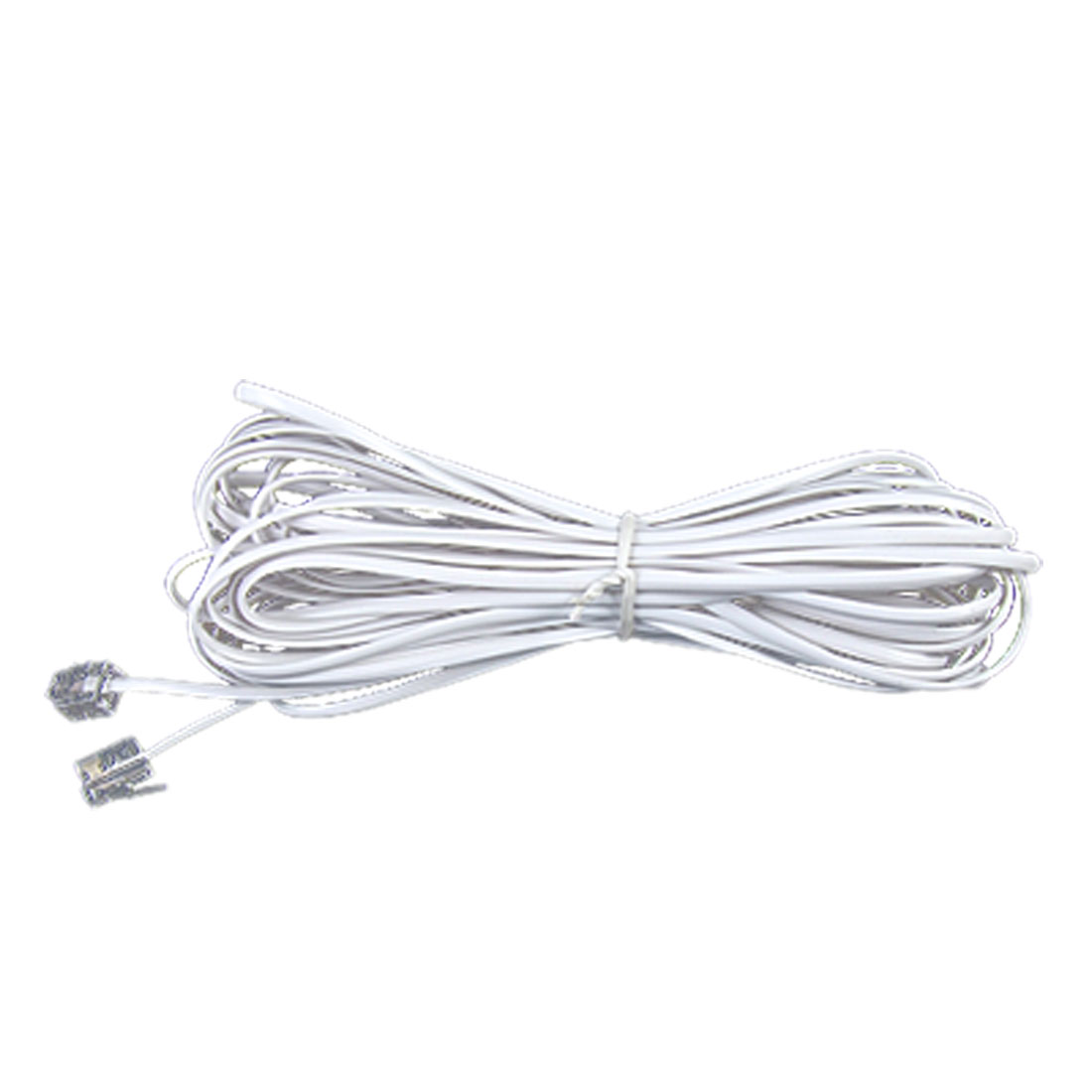 Telephone Line Cord 9.9m Length White RJ11 to RJ11