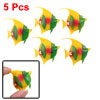 5 PCS Stripe Plastic Tropical Fish Aquarium Ornament