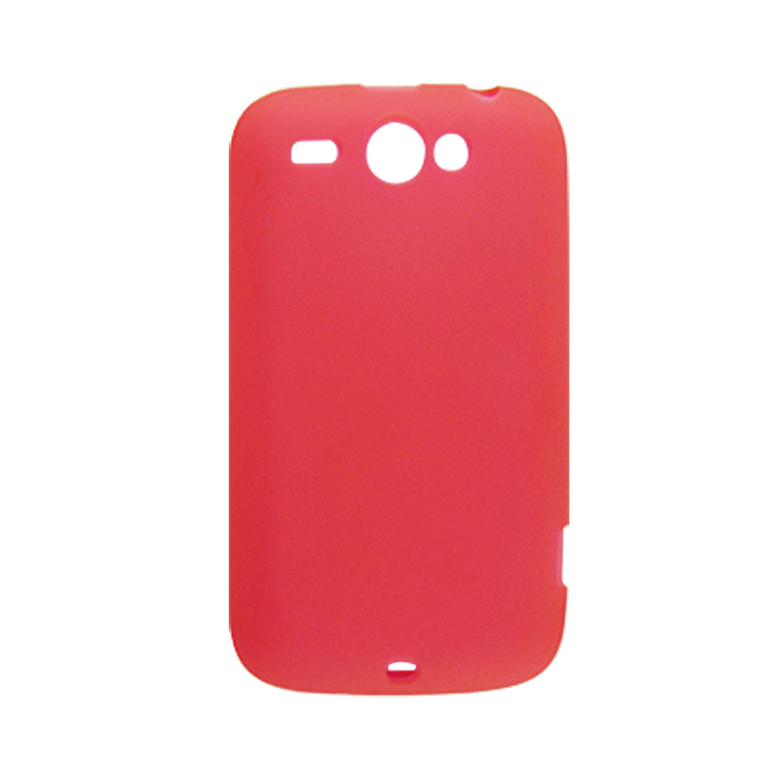 Protective Soft Plastic Shell Case Red for HTC Wildfire G8