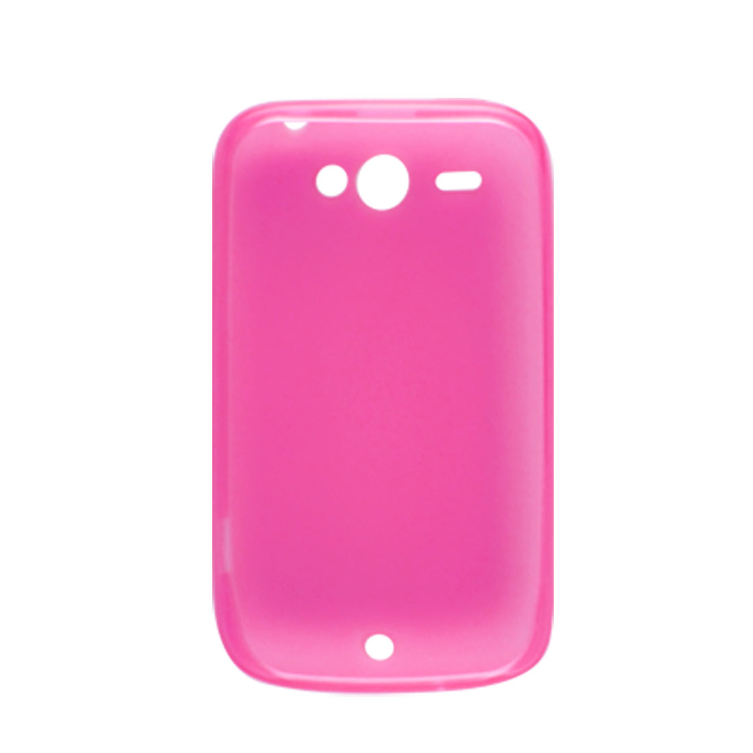 Fuchsia Soft Plastic Protector Case for HTC Wildfire G8