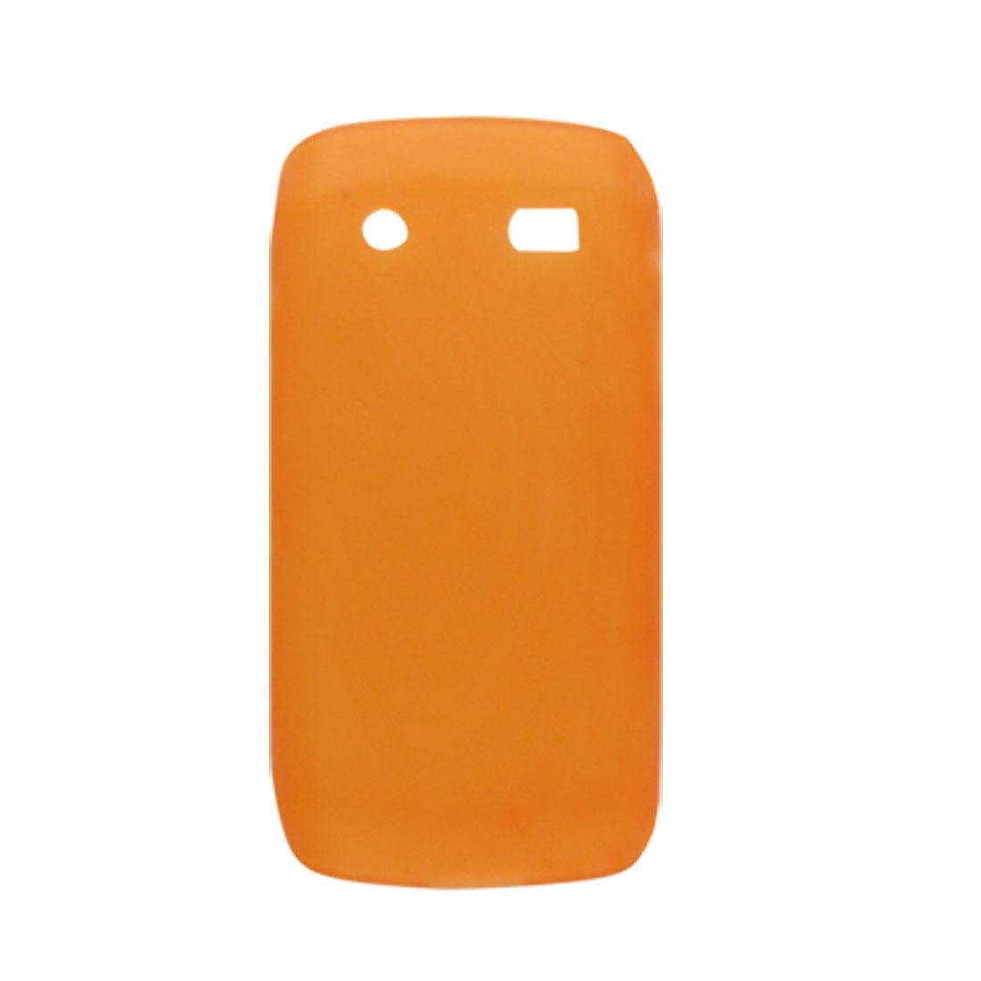 Orange Soft Plastic Back Case for BlackBerry 9100