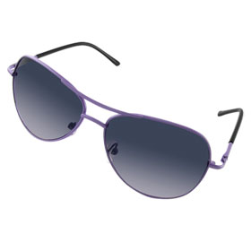 Purple Black Double Bridge Oval Sunglasses for Children