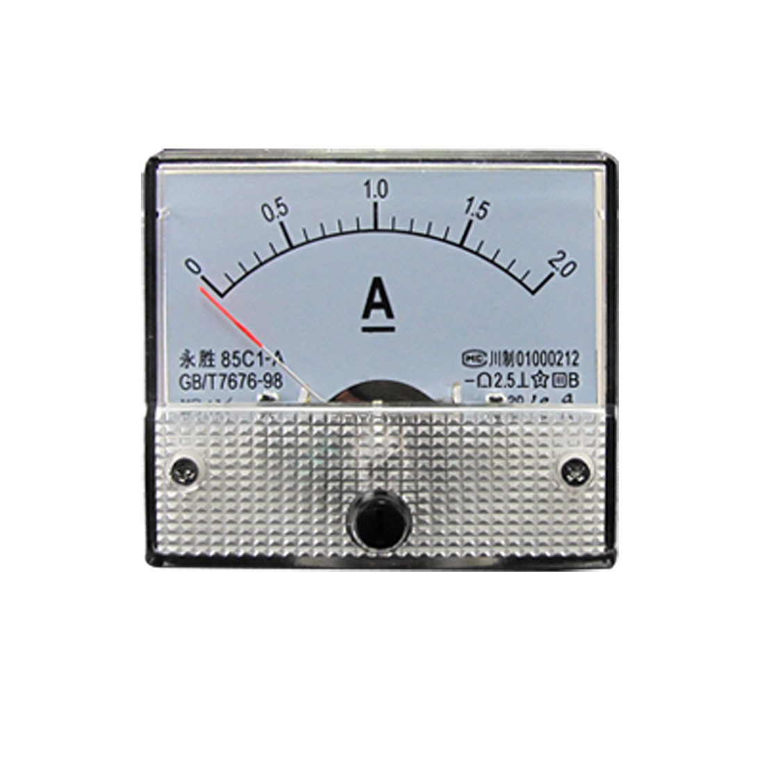 85C1 Analog DC 2A Current Panel Meter Ammeter