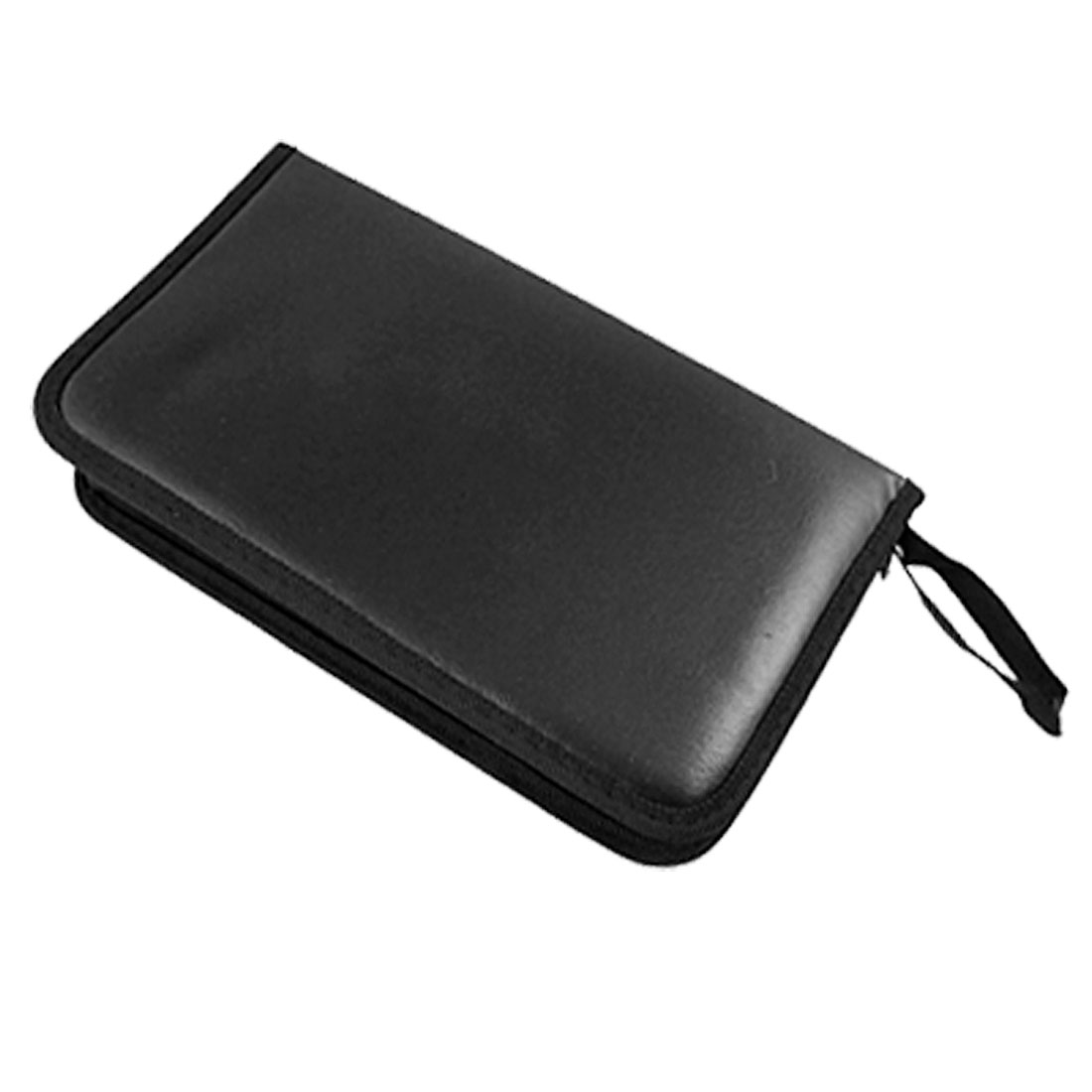 80 VCD DVD CD Faux Leather Carrying Case Storage Holder Organizer Black
