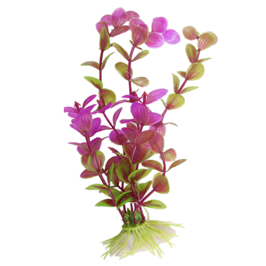 Aquarium Tank Plastic Plant Grasses Decor w Ceramic Base