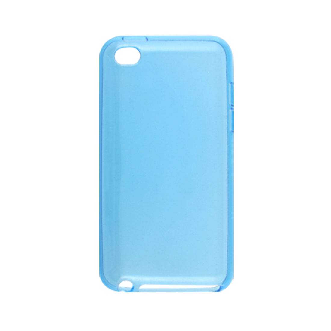 Clear Blue Soft Plastic Back Cover Case for iPod Touch 4