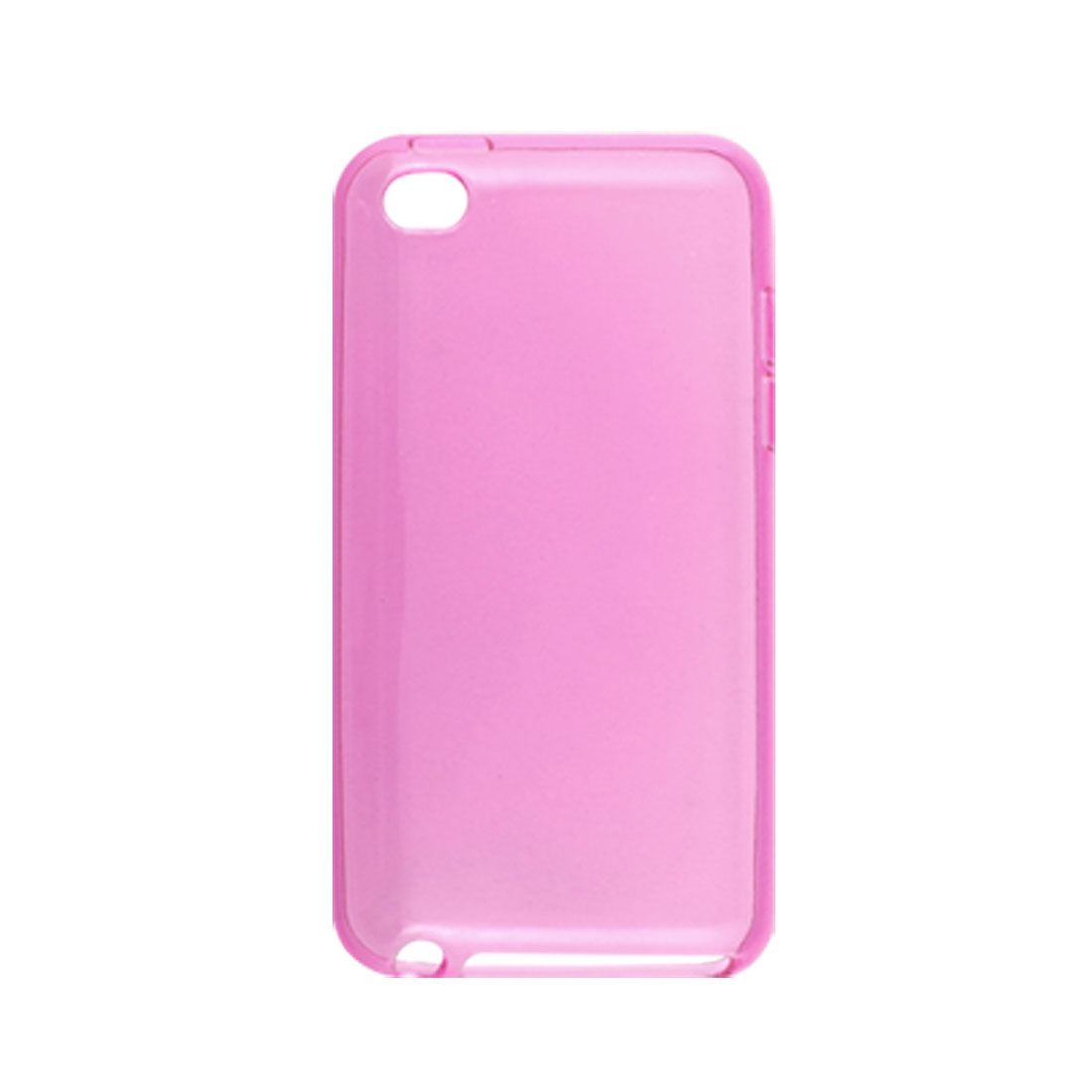 Clear Amaranth Pink Soft Plastic Back Case for iPod Touch 4