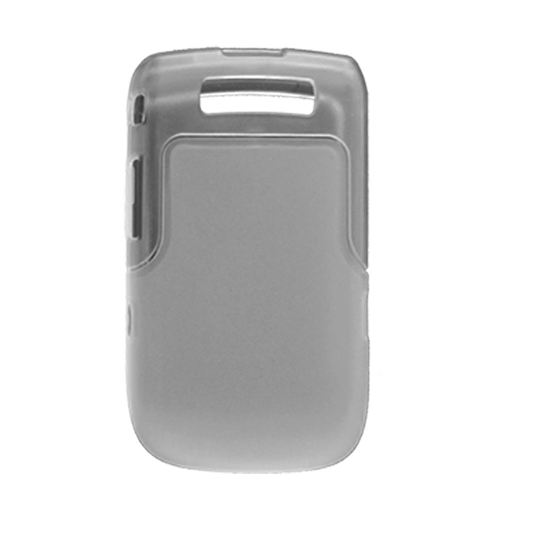 Hard Frame Clear White Soft Plastic Back Case for Blackberry 9800