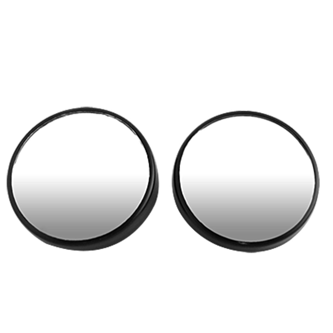 2 Pieces 50mm Diameter Black Car Convex Rearview Blind Spot Mirror