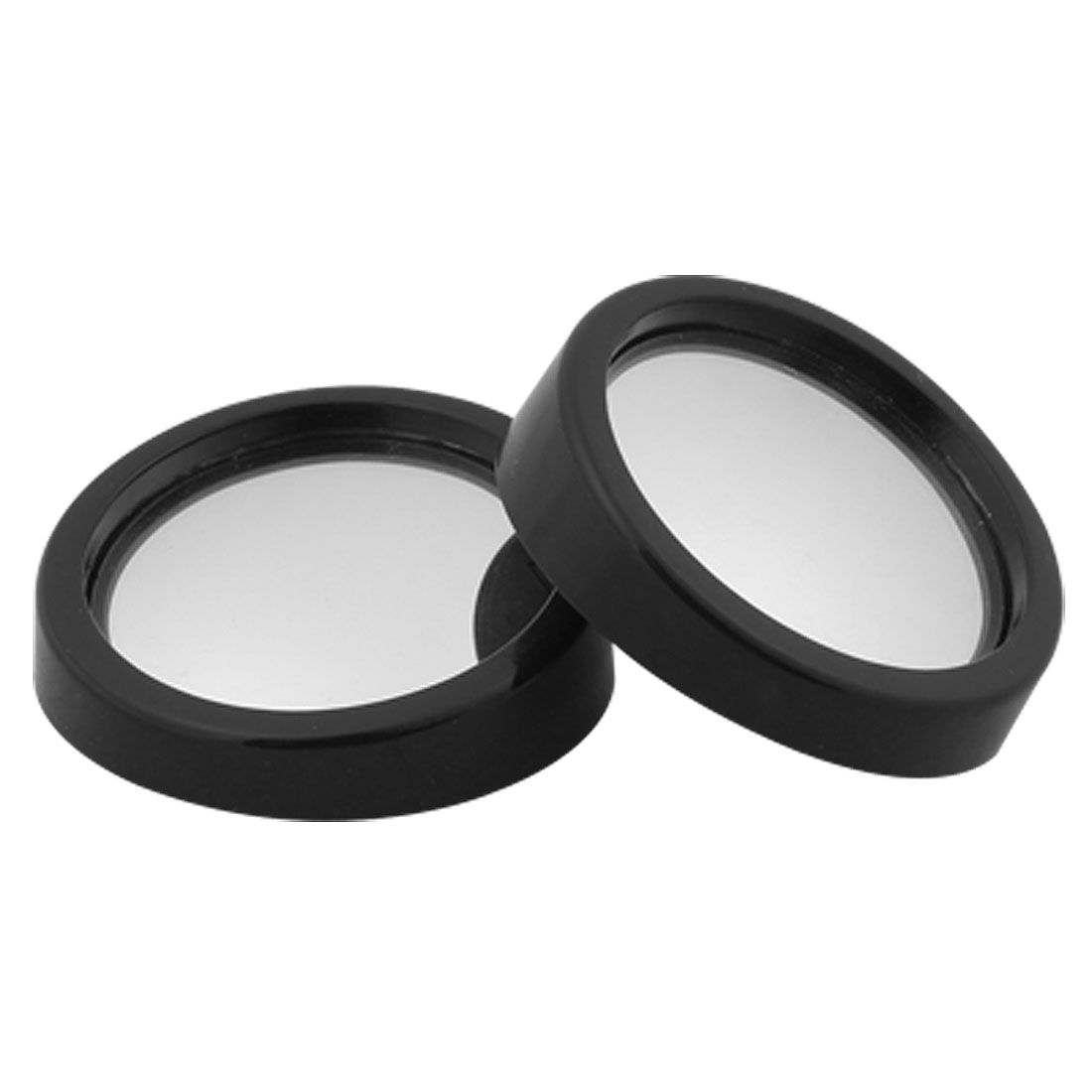2 Pieces Mini Black Convex Round Blind Spot Safety Mirror for Car