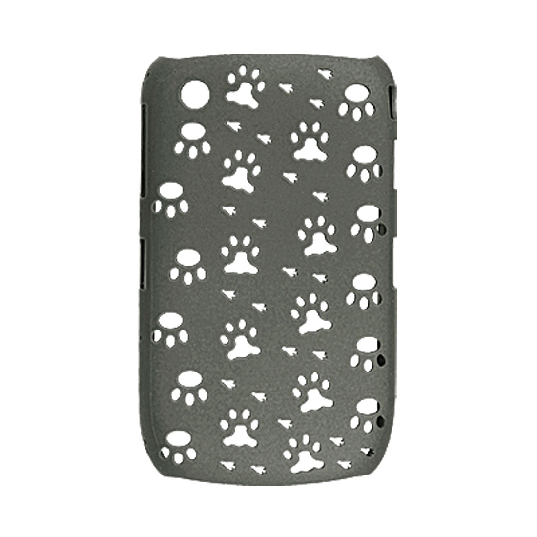 Paw Hole Design Gray Hard Plastic Back Case for Blackberry 8520