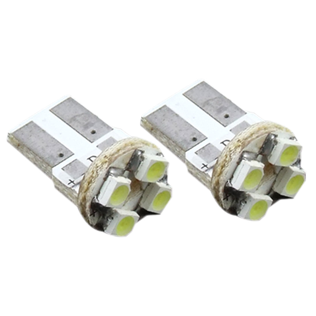 2Pcs Side Dashboard Car Auto Bulb Wedge LED Light Lamp White Yellow