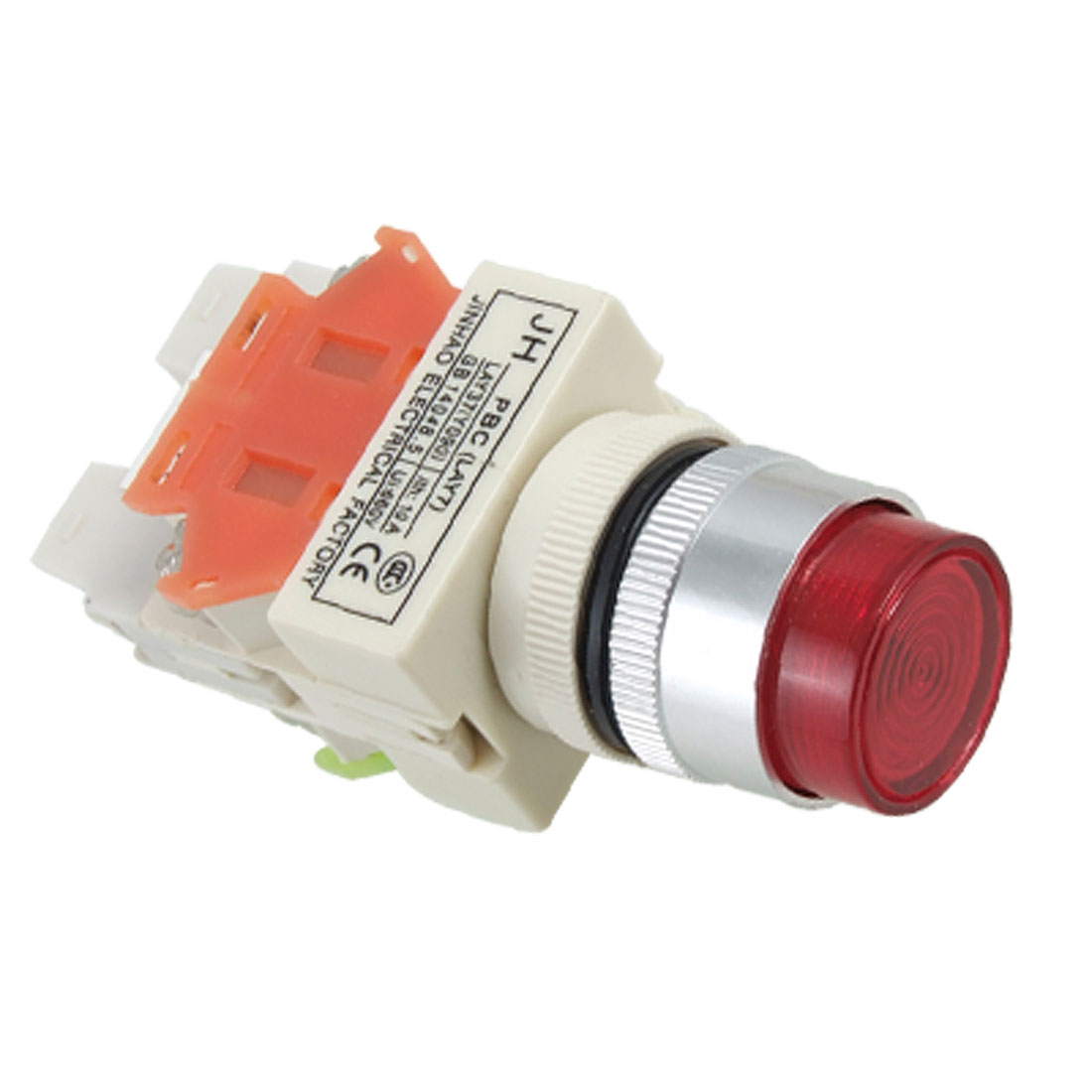 220V Light Lamp Red Sign Momentary Push Button Switch 1 NO N/O 1 NC N/C 10A 660V
