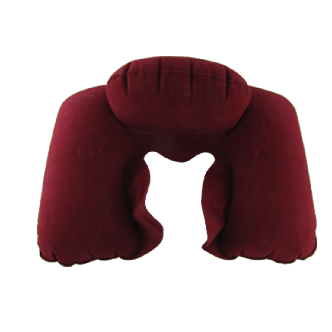 Home Travel Air Cushion Neck Inflatable Pillow Carmine