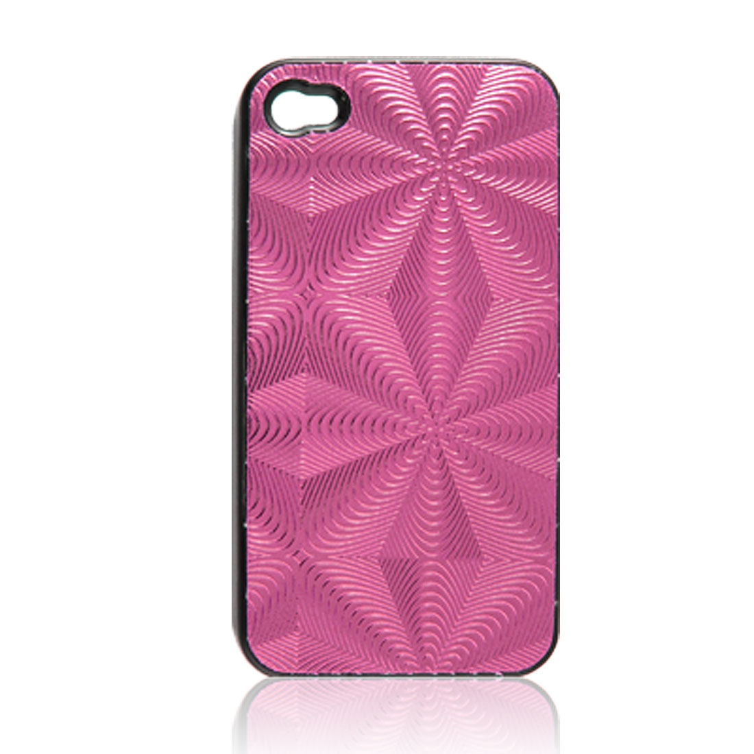 Amaranth Ripple Shiny Plastic Back Case for iPhone 4 4G