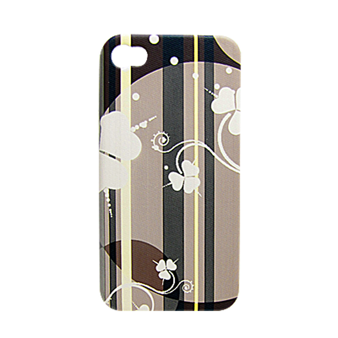 Colorful Faux Leather Coated Hard Plastic Back Cover for iPhone 4 4G
