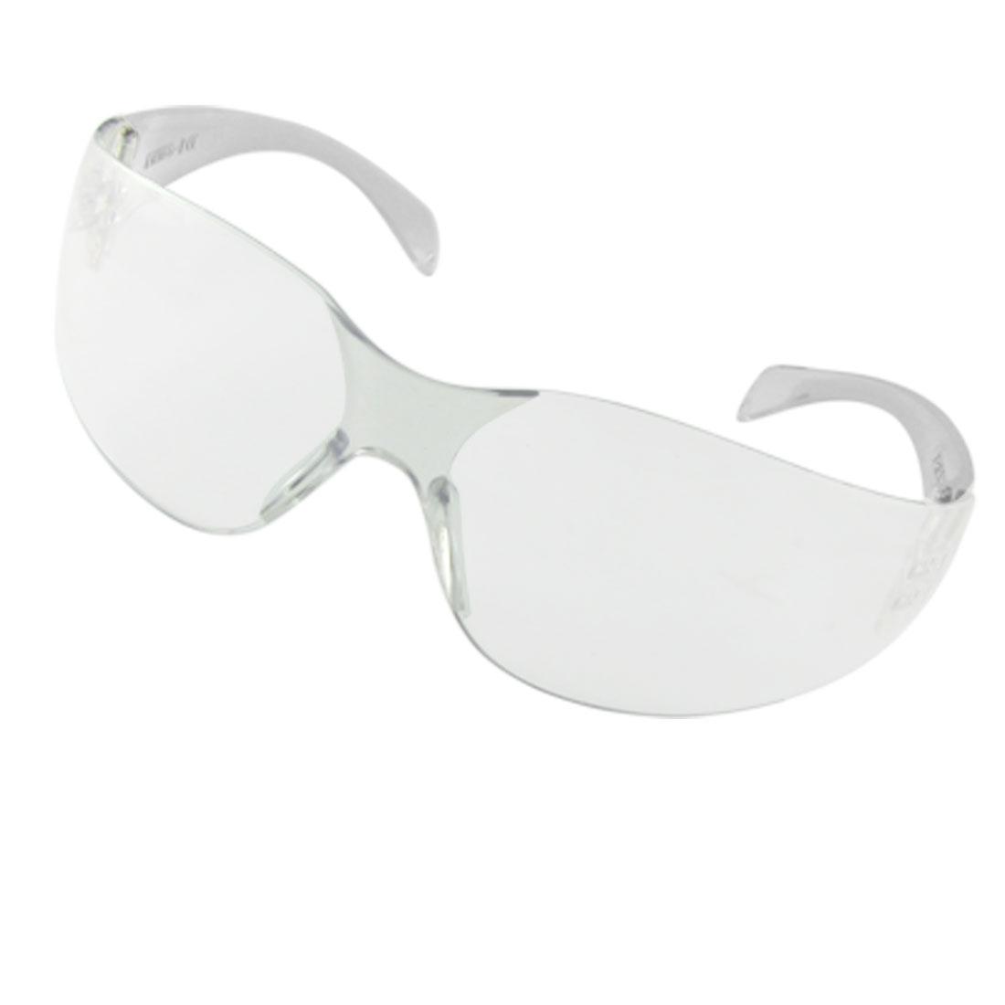 Unisex Transparent Plastic Frame Clear Lens Sports Sunglasses
