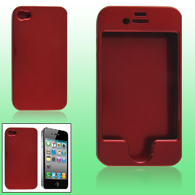 Crimson Hard Plastic Protector Case for iPhone 4 4G