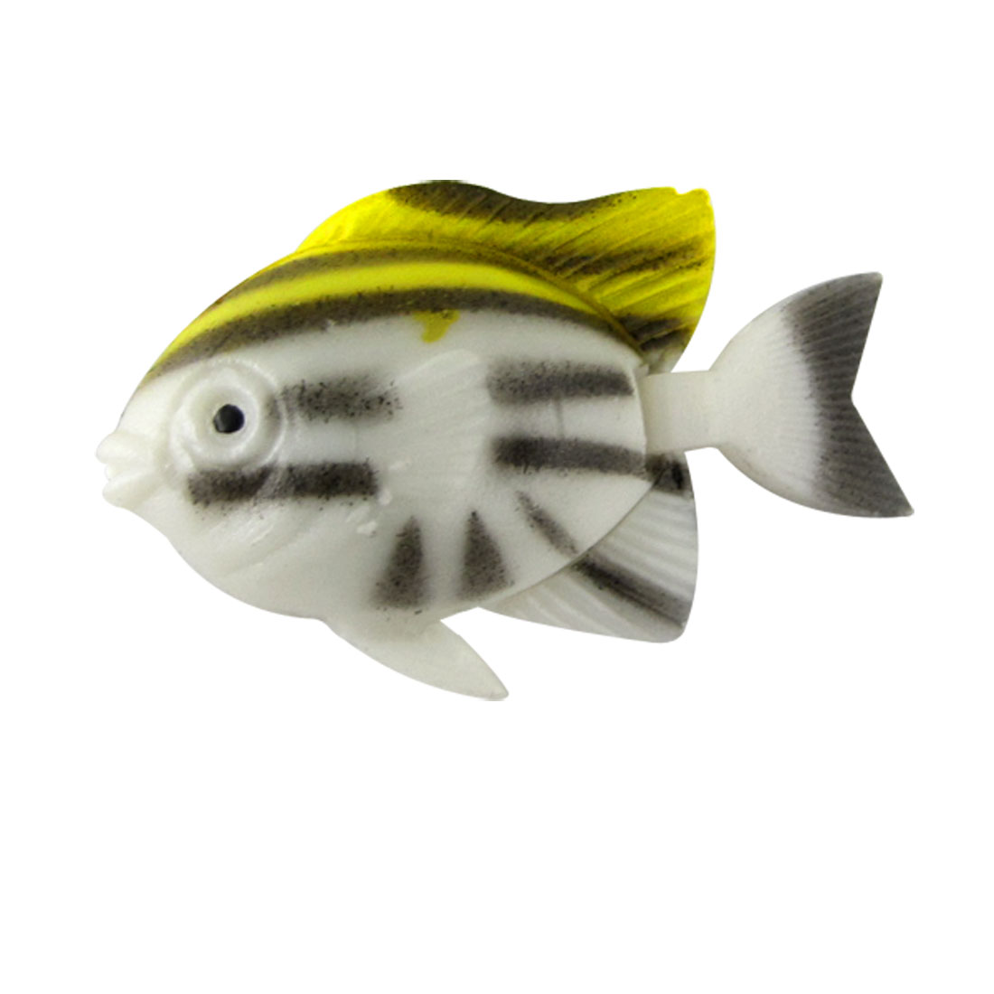 5 Pieces Mini White Black Yellow Fish Decoration for Aquarium Tank