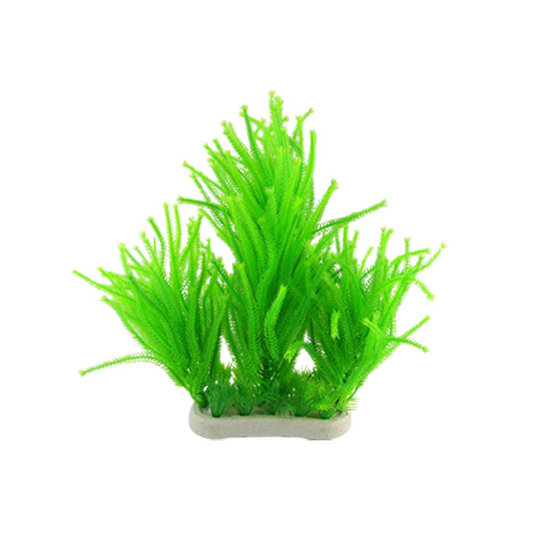 Aquarium Fish Tank Green Plastic Grass Plant Decoration