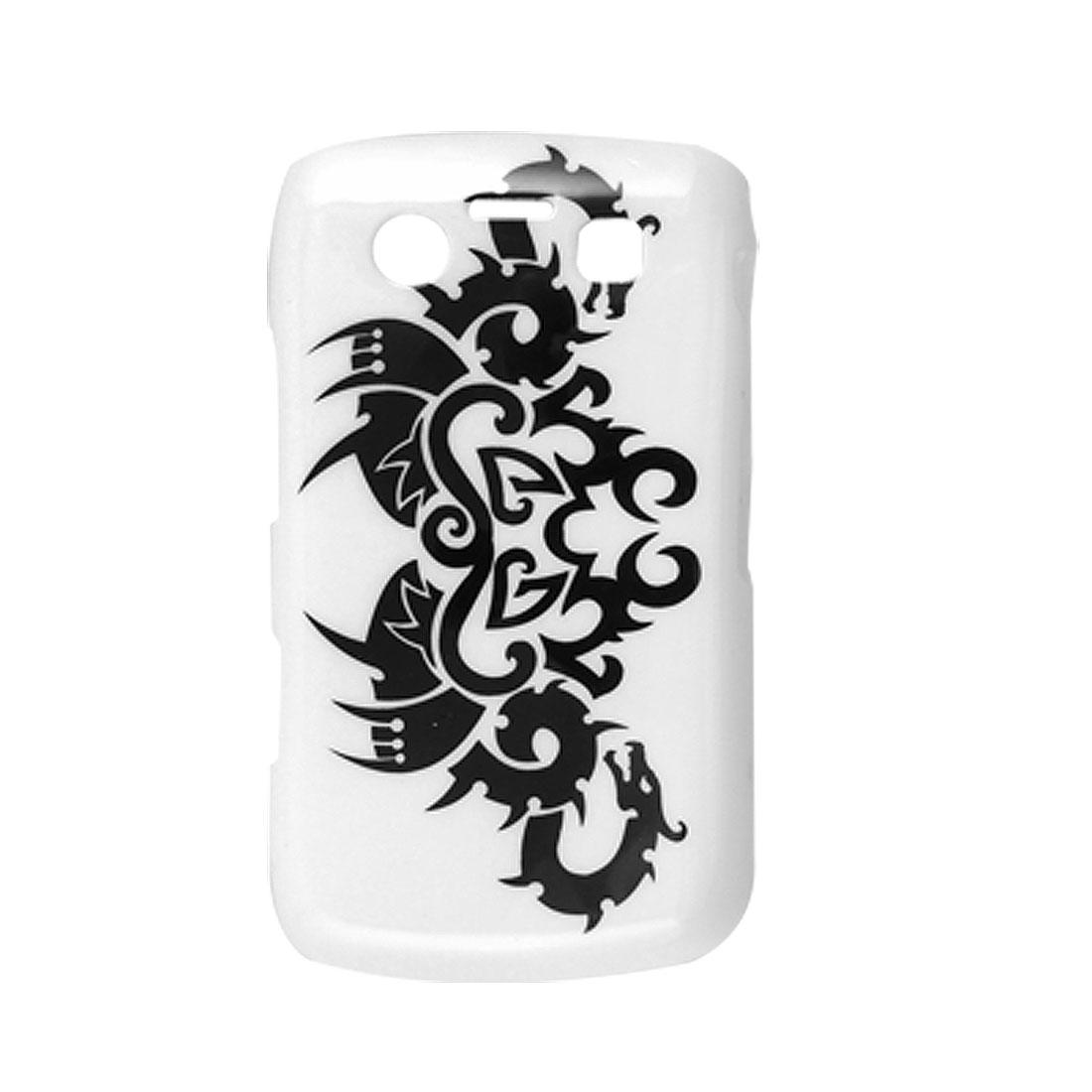 Dragon Print Cover Hard Case White for Blackberry 9700 9020