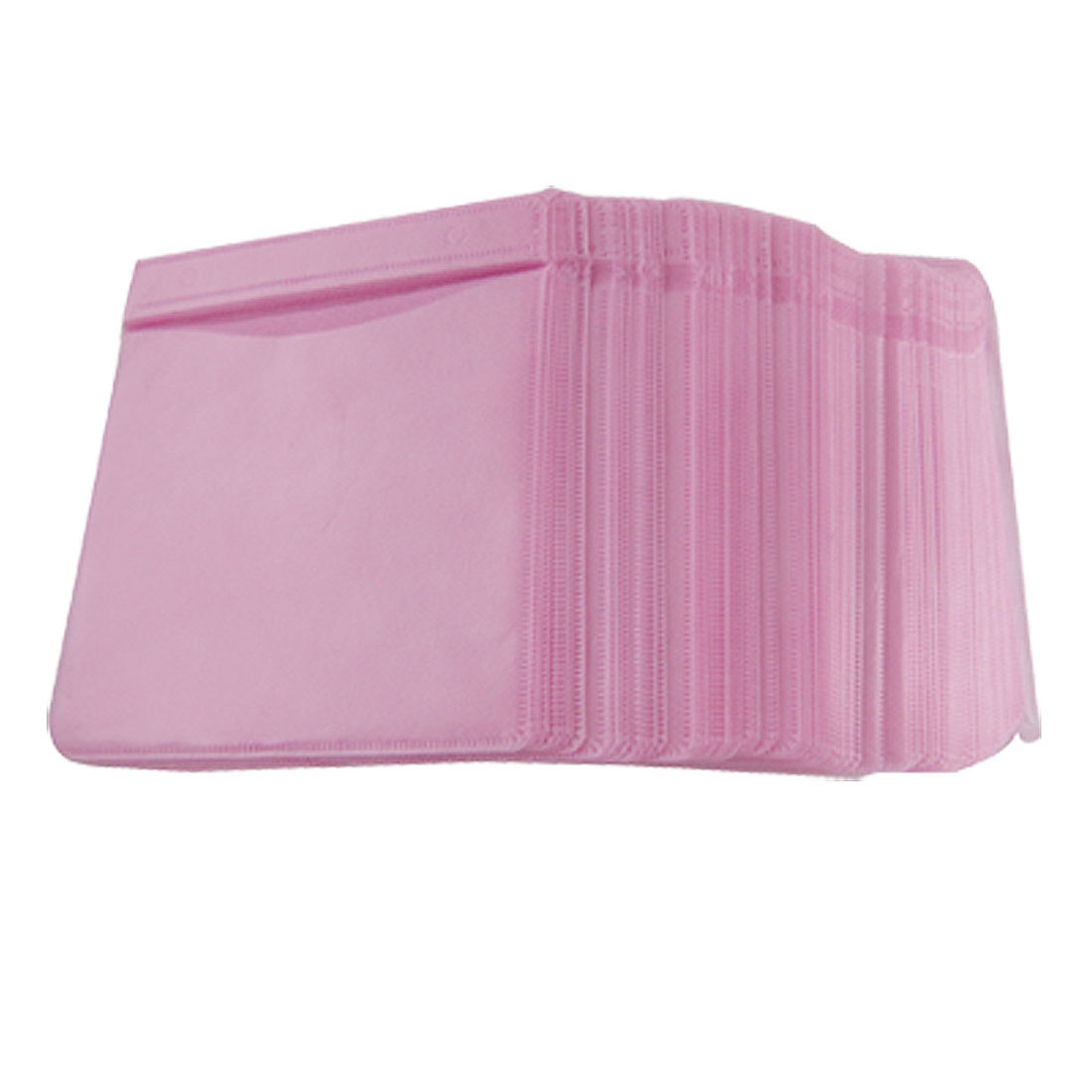 100 Pcs Double Side Pink Home CD Storage Bag Holder