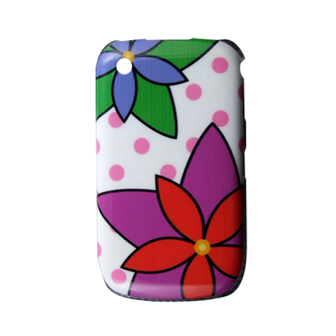 Multicolor Hard Case Flower Cover for BlackBerry 8520