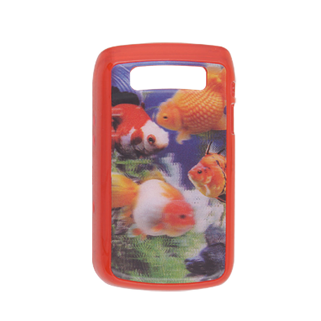 3D Style Fish Pattern Plastic Back Case for Blackberry 9700