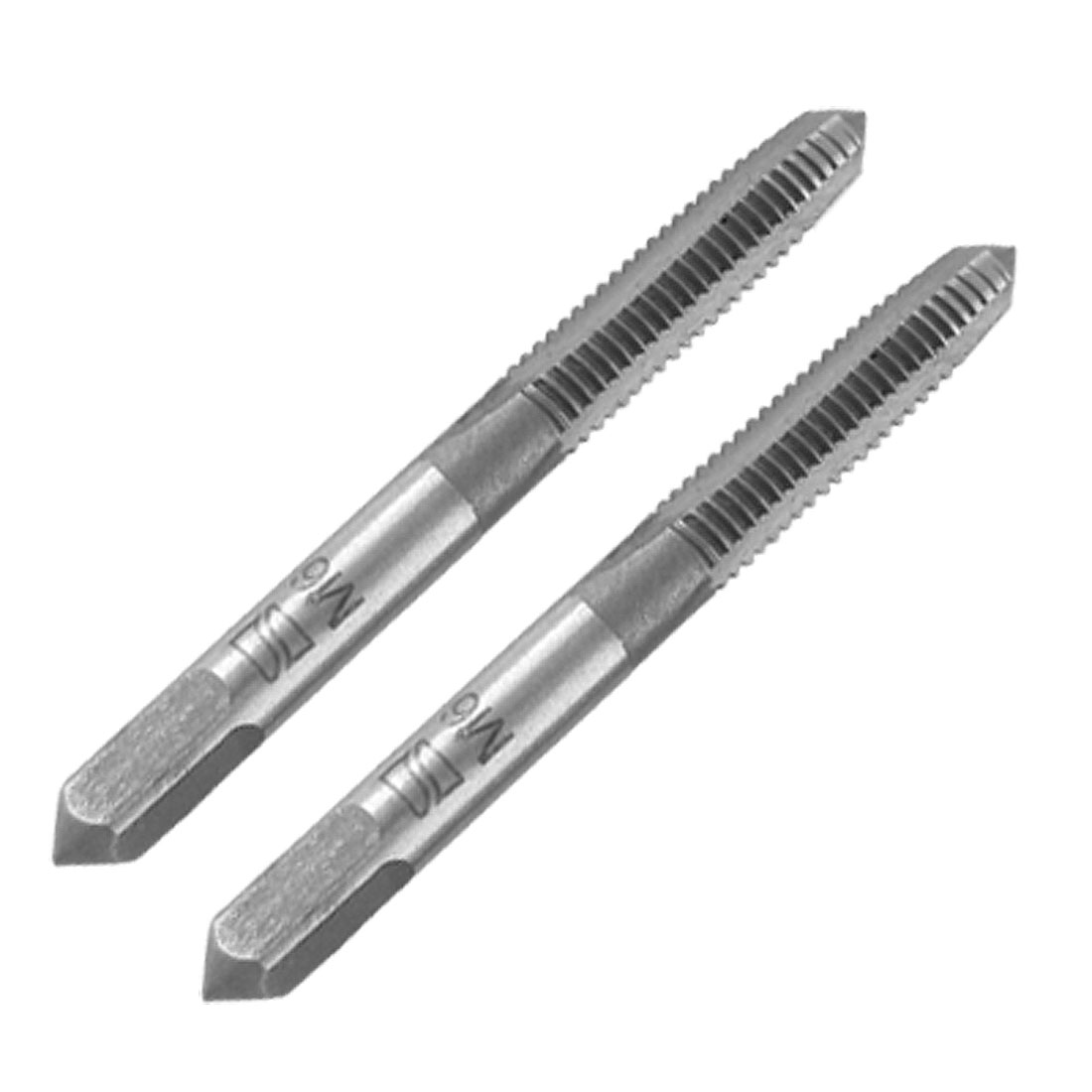 2pcs 6mm Dia. Straight Screw Flute Machine Taper Tap Drill Bit Tool