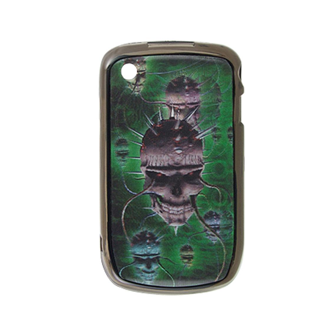 Skull Hard Plastic 3D Back Case for Blackberry 8520
