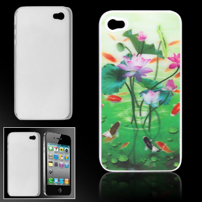 Lotus 3D Colorful Plastic Back Case for iPhone 4 4G