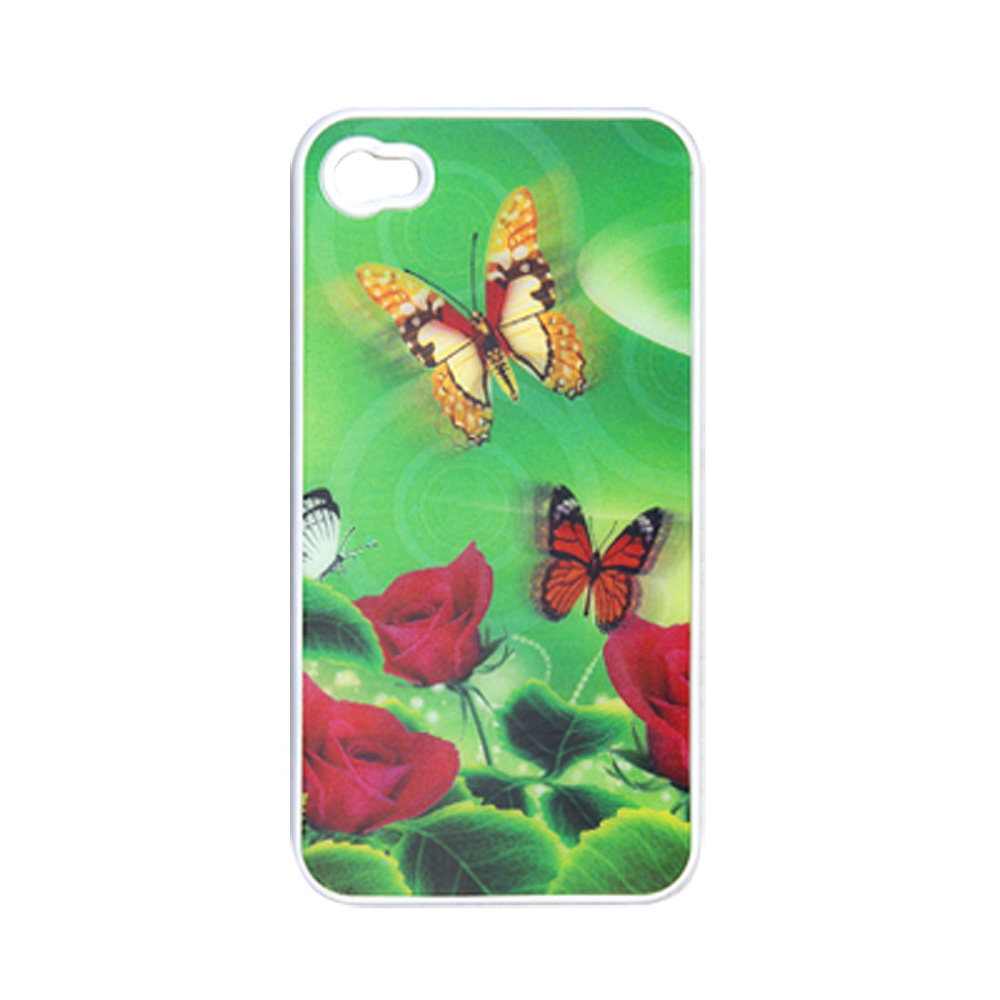 Plastic Butterfly 3D Colorful Back Case for iPhone 4 4G
